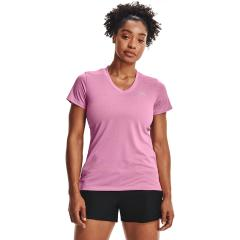 Women's UA Tech Bubble Heather Short Sleeve V-Neck