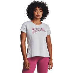 Women's Floral Wordmark Graphic Short Sleeve