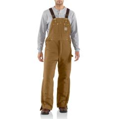 Men's Duck Bib Overall - Arctic-Quilt Lined - Discontinued Pricing