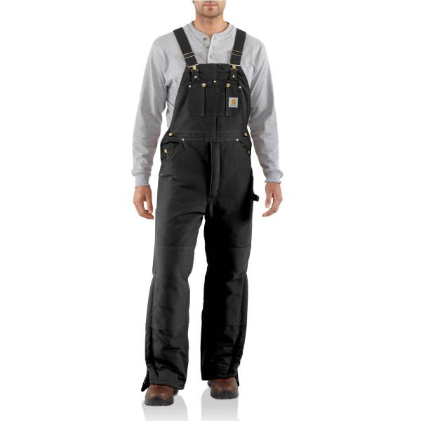 Carhartt Men's Duck Bib Overall - Arctic-Quilt Lined - Discontinued Pricing