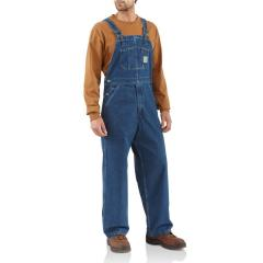 Men's Washed-Denim Bib Overall - Unlined