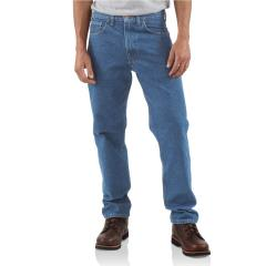Men's Straight/Traditional-Fit Tapered-Leg Jean