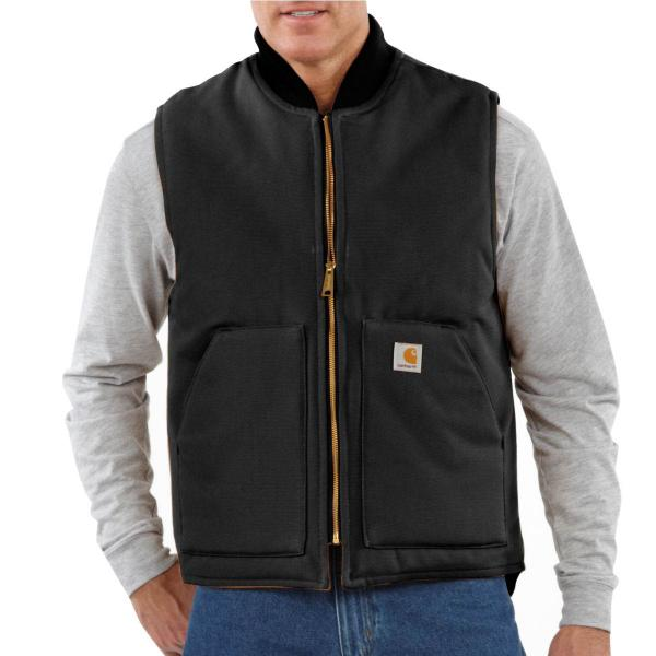 Carhartt Men's Relaxed Fit Firm Duck Insulated Rib Collar Vest