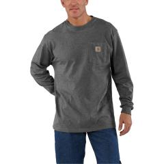 Men's Loose Fit Heavyweight Long Sleeve Pocket T-Shirt