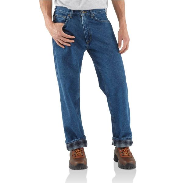 Carhartt Men's Relaxed-Fit Straight Leg Jean - Flannel Lined - Discontinued Pricing