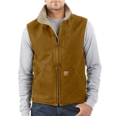 Men's Mock-Neck Vest - Sherpa Lined