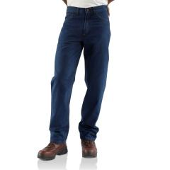 Carhartt Men's Flame-Resistant Signature Denim Jean - Relaxed-Fit