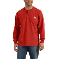 Men's Long-Sleeve Workwear Henley - Discontinued Pricing