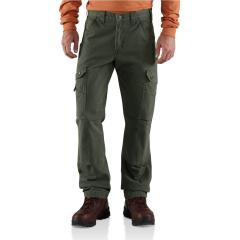 Men's Ripstop Relaxed Fit Double-Front Cargo Work Pant