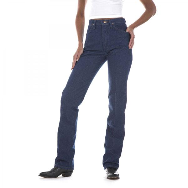 Wrangler Women's Cowboy Cut Slim Fit Jean - Prewashed Indigo