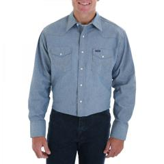 Men's Authentic Cowboy Cut Denim Work Shirt
