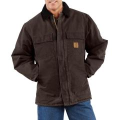 Men's Sandstone Traditional Coat - Arctic-Quilt Lined