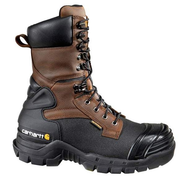 Buy Cheap Mens Carhartt CMC1259 10 Safety Toe Pac Boot Brown/Black Oil Tanned Leather Mens Brown/Black Oil Tanned Leather Carhartt Mens Carhartt