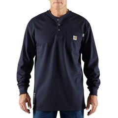 Men's Flame-Resistant Force Cotton Long Sleeve Henley