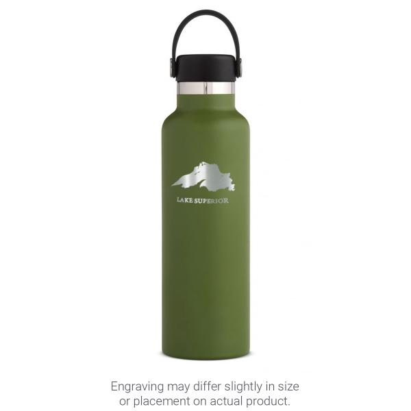 Hydro Flask 21 oz Standard Mouth - Lake Superior Engraved