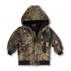 Infant Boys' Work Camo Active Jac - Quilted Flannel Lined