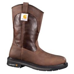 Men's 11 Inch Square Toe Brown Wellington Steel Toe