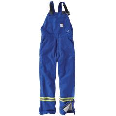 Men's FR Striped Duck Bib Lined Overall
