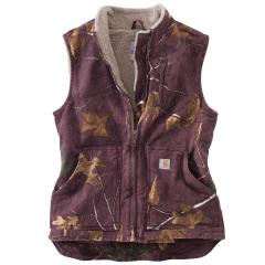 Women's Mock Neck Vest Camo