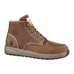 Men's 4 Inch Brown Lightweight Wedge Boot
