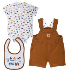 Infant Boys' Carhartt Shortall 3 Piece Gift Set