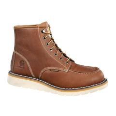Men's 6 Inch Tan Waterproof Wedge Boots - Non Safety Toe