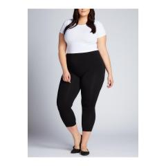 Women's Plus Size Three Quarter Legging
