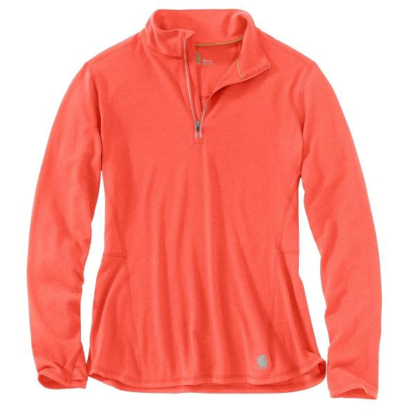 Carhartt Women s Force Ferndale Quarter Zip Shirt - Discontinued Pricing 97191f59ab
