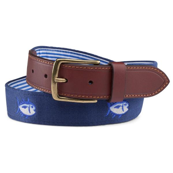 Southern Tide Men's Embroidered Skipjack Belt