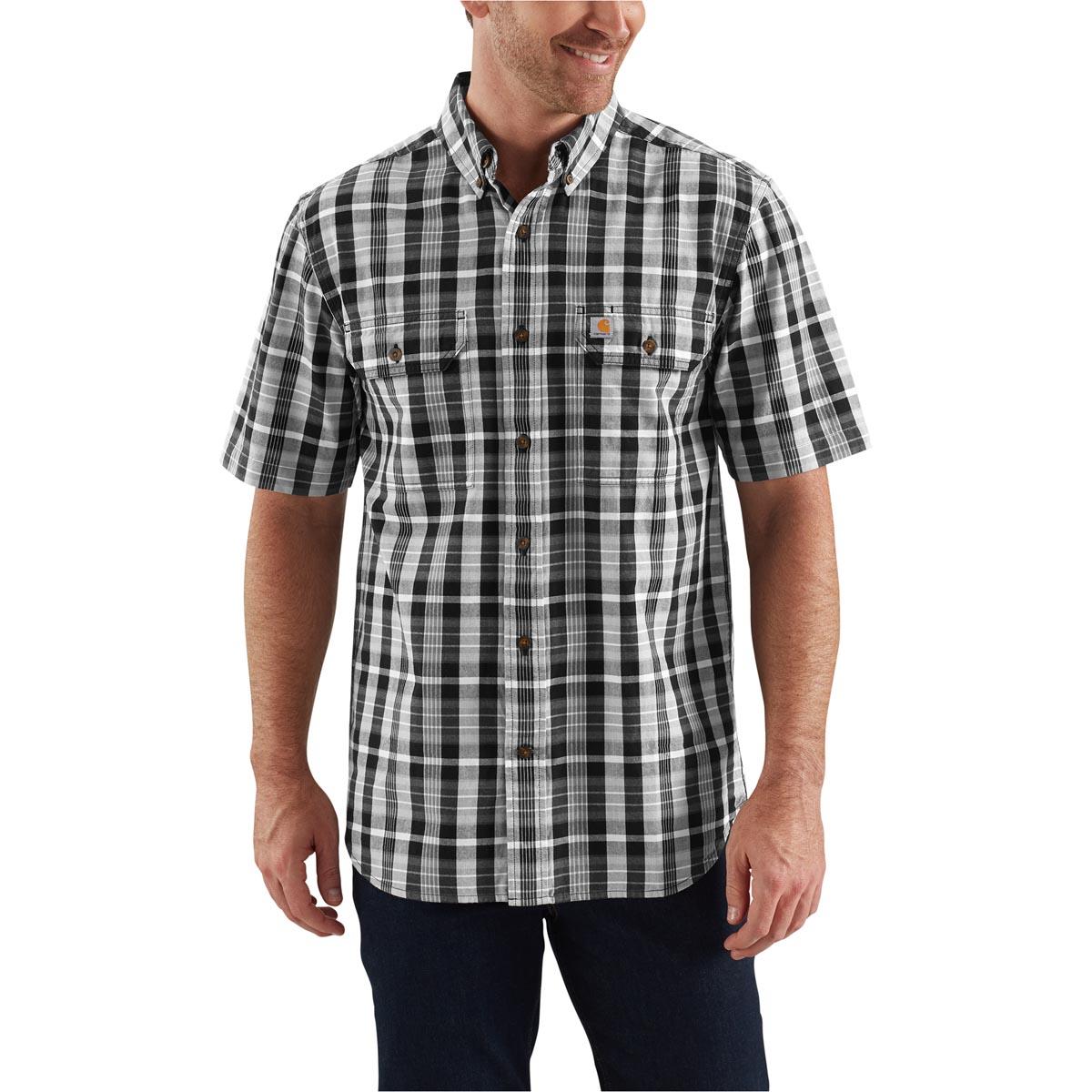Carhartt Men's Fort Plaid Short Sleeve Shirt