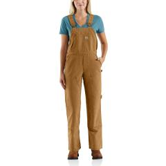 Women's Weathered Duck Unlined Wildwood Bib Overalls