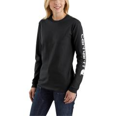 Women's WK231 Workwear Sleeve Logo Long Sleeve T-Shirt