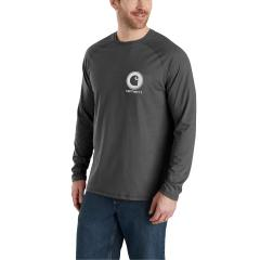 Men's Force Cotton Delmont Graphic Long Sleeve T-Shirt