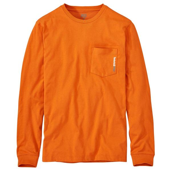 Timberland Men's Long Sleeve Blended Pocket T-Shirt - Discontinued Color