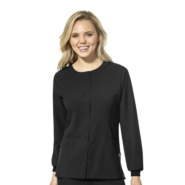Wink Scrubs Unisex Crew Neck Warm Up Jacket