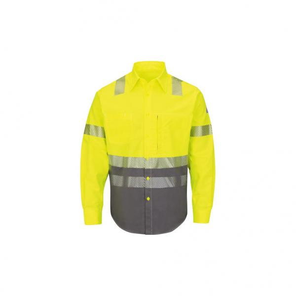 Bulwark Men's High Vis Color Block Uniform Shirt Excel FR
