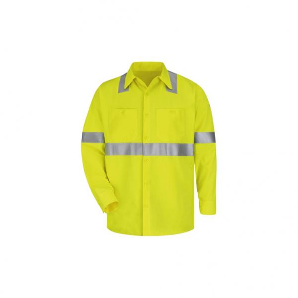 Bulwark Men's High Vis Work Shirt CoolTouch