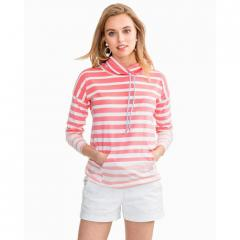 Women's Striped Scuba Pullover