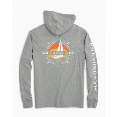 Men's Southern Sailboat Heathered Hoodie Tee