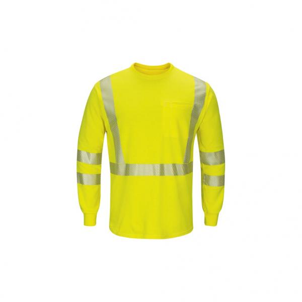 Bulwark Men's Hi-Visibility Lightweight Long Sleeve T-Shirt