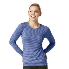 Women's Long Sleeve Striped Tee Extended Sizes