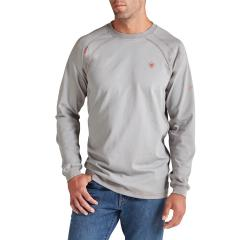 Ariat Men's FR Work Crew Long Sleeve - Silver Fox