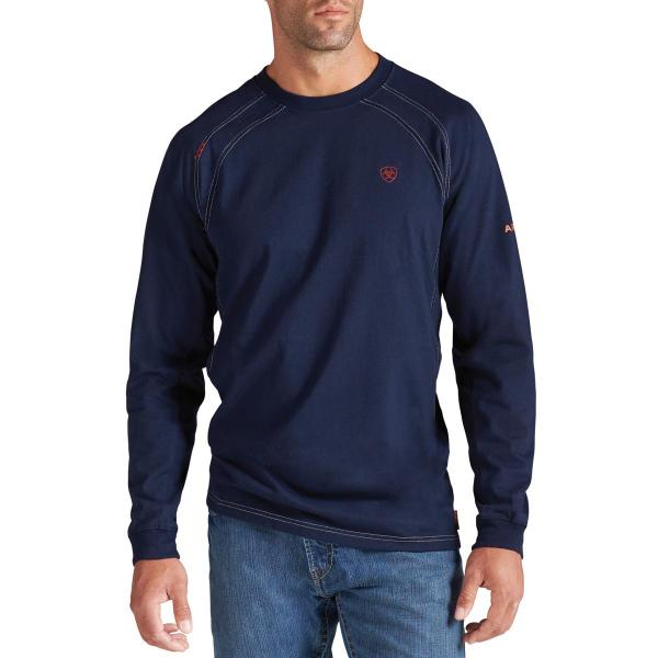 Ariat Men's FR Work Crew Long Sleeve - Navy