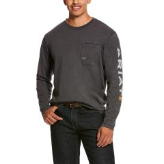 Men's Rebar Workman Long Sleeve Logo T-Shirt
