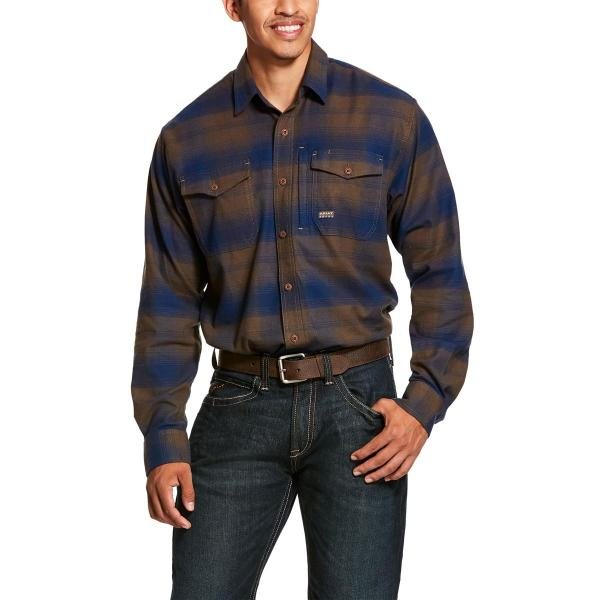 Ariat Men's Rebar Flannel DuraStretch Long Sleeve Work Shirt