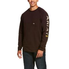 Men's Rebar Cottonstrong Graphic Long Sleeve T-Shirt - Ganache