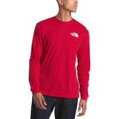 Men's Long Sleeve Red Box Tee - Past Season