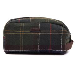 Men's Tartan Wool Wash Bag