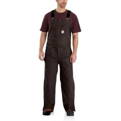 Men's Quilt Lined Washed Duck Bib Overalls