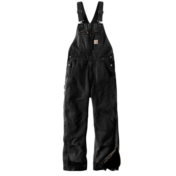 Carhartt Men's Quilt Lined Washed Duck Bib Overalls